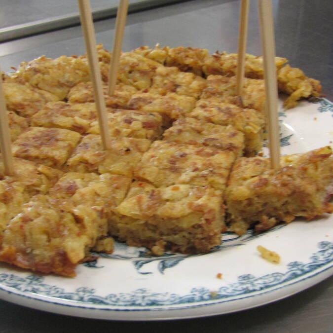 Omelette aux graisserons de canard