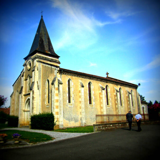 Eglise de Gousse - Sentier de l'Adour